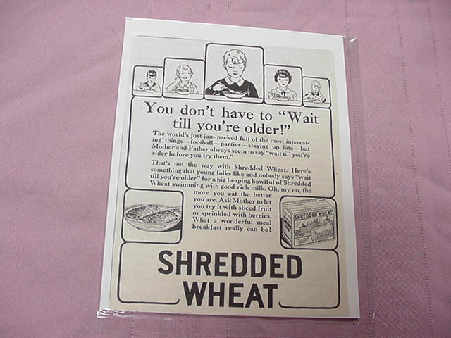 1930 Shredded Wheat Ad