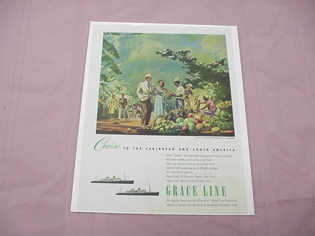 1951 Grace Lines Cruise Ship Ad