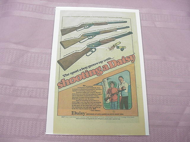 1970's Daisy BB Gun Color Ad