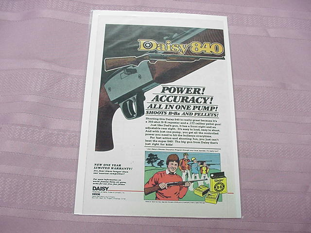 1970's Daisy 840 BB Gun Color Ad