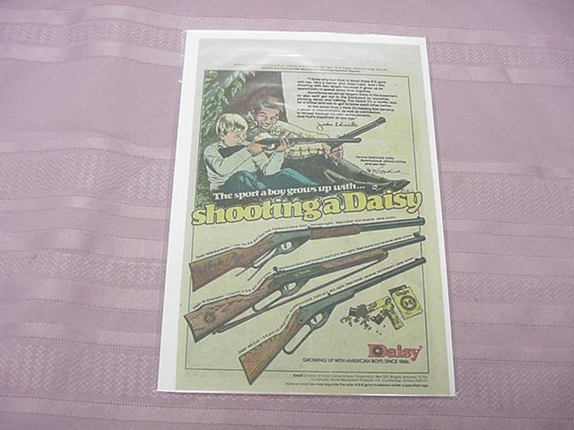 1979 Daisy B-B Guns Color Ad With Johnny Unitas