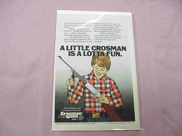 1979 Crosman Air Guns 788 BB Scout Color Ad