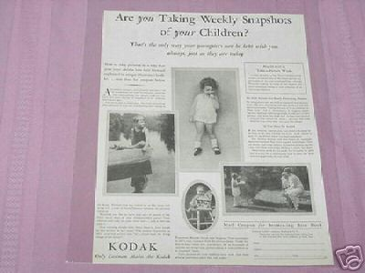 1930 Kodak Ad Are You Taking Snapshots of Your Children