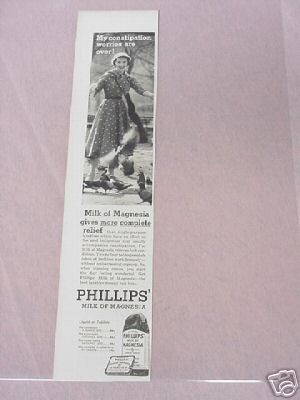 1955 Phillips' Milk of Magnesia Ad More Complete Relief