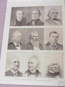 1897 Illustrated Page Great U.S. Orators & Lecturers