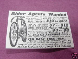 1909 Ad Mead Cycle Co., Chicago