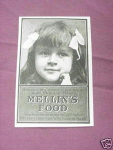 1901 Ad Mellin's Food Company, Boston, Mass.