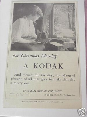 1914 Kodak Camera Ad For Christmas Morning, A Kodak