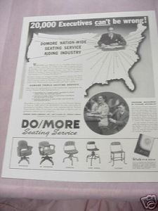 1941 Ad Domore Chair Company, Elkhart, Indiana