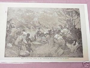 1889 Africa Illustrated Page Fight At Avi Sibba