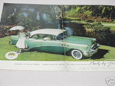 1955 Body By Fisher Ad Featuring Buick 4-Door Riviera
