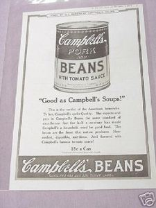 1919 Ad Campbell's Pork and Beans