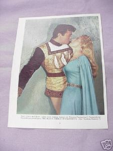 1955 Color Illustrated Page Tony Curtis Janet Leigh