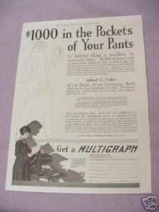 1917 Ad The Multigraph Duplicating Machine Cleveland
