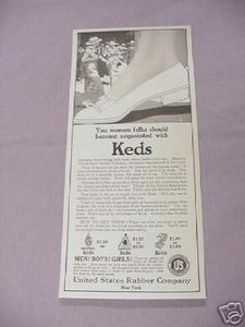 1917 Keds Ad United States Rubber Company, New York
