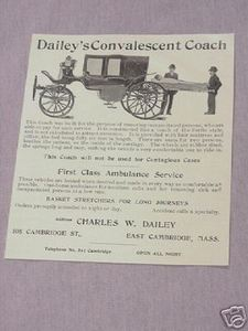 1906 Ad Dailey's Convalescent Coach Ambulance Coach