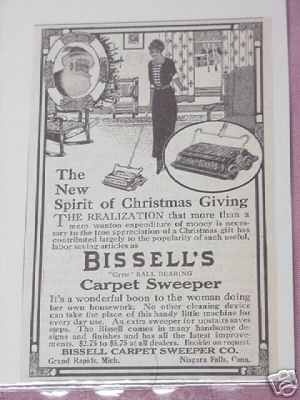 1914 Bissell's Carpet Sweeper Ad Grand Rapids, Mich.