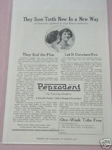 1919 Pepsodent Ad They Save Teeth Now In A New Way