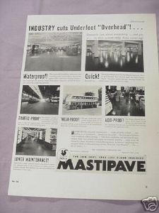 1936 Ad Mastipave Floor Covering, Paraffine Companies
