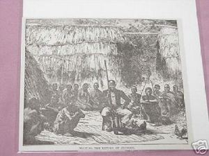 1889 Africa Illustrated Page Waiting For Stanley