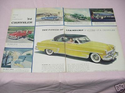 1953 Color Ad 1954 Chrysler