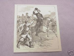 1886 Civil War Illustrated Page McClellan Williamsburg