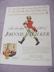 1937 Johnnie Walker Scotch Color Ad
