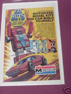 1984 Monogram GoBots Motorized Model Kits Ad Go Bots