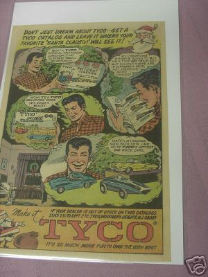 1966 Color Ad Tyco Speedways Slot Car Set