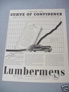 1940 Insurance Ad Lumbermens Mutual Casualty Company