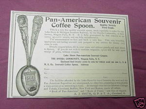 1901 Ad Pan American Exposition Souvenir Coffee Spoon