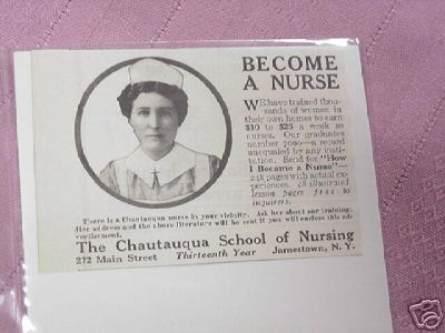 1915 Ad Chautauqua School of Nursing, Jamestown, N. Y.