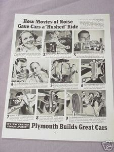 1937 Automobile Ad Plymouth Builds Great Cars