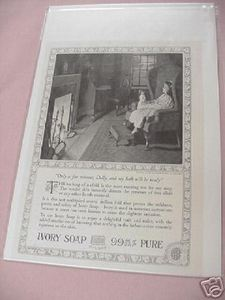 1918 Ivory Soap Ad Girl With Doll