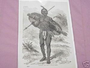 1889 Africa Illustrated Page African Chief Mirambo