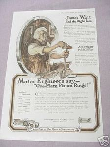 1919 Ad American Hammered Piston Rings Baltimore Md.
