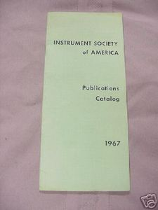 Instrument Society of America 1967 Catalog ISA