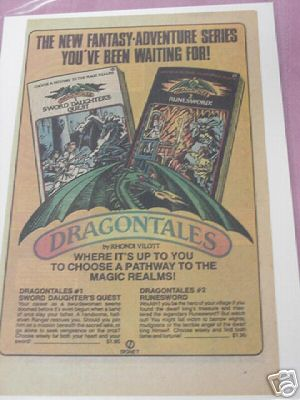 1984 Dragontales Books Color Ad Role-Playing