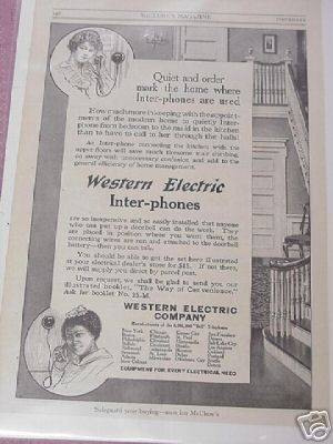 1914 Ad Western Electric Company Inter-phones