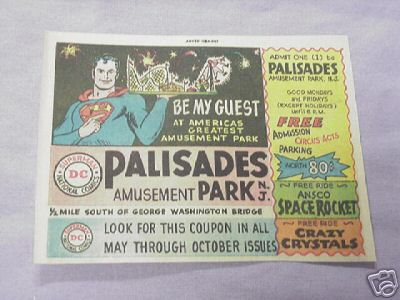1964 Ad Superman Palisades Amusement Park, N. J.