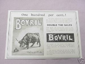 1900 Ad Bovril The Product of Over 10,000 Oxen