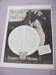 1942 WWII Ad General Motors New Life For Old Cars
