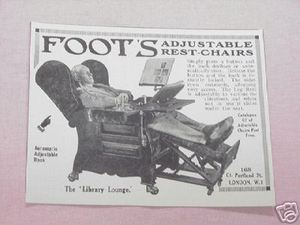 1939 Ad Foot's Adjustable Rest-Chairs Library Lounge