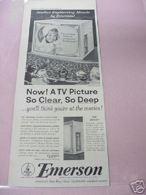 1953 Emerson Space Saver Television Ad