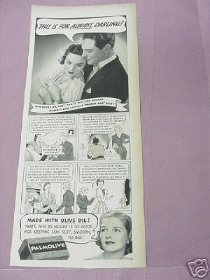 1939 Middle-Age Skin Palmolive Soap Ad