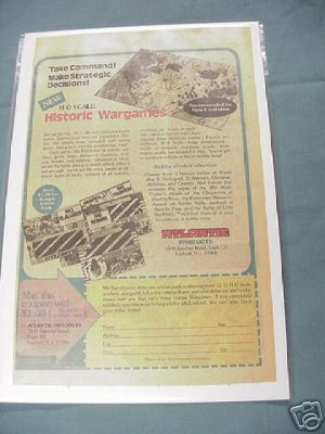 1980 Atlantic Products H. O. Scale Historic Wargames Ad