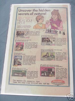 1976 Skil-Craft Ad Chemistry, Microscope, Geology Sets