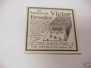 1894 Ad The Victor Brooder, Geo. Ertel & Co, Quincy, Ill.