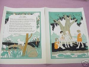 1932 Two Page Nursery Rhyme The Game by Margaret Widdemer