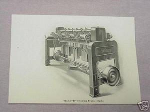 1925 Illustrated Page Whitin Drawing Frame